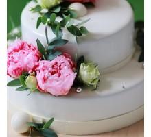 Свадебный торт 2х ярусный вес 3 - 3,2 кг