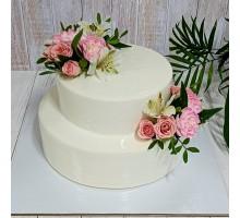 Свадебный торт двух ярусный вес 3 - 3,2 кг