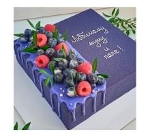 Муссовый торт квадратный 20 см вес 1,3 - 1,5 кг