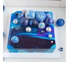 Муссовый торт квадратный 24 см вес 2,8 - 3 кг