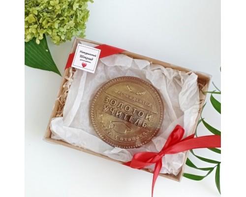 Шоколадная медаль на день учителя Золотой учитель